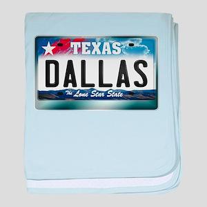 Texas License Plate [DALLAS] baby blanket